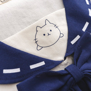 Japanese Navy Cat Bow T-Shirt SE20428
