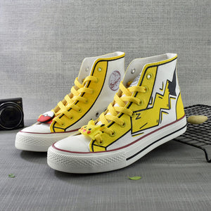 Japanese Pikachu Hand-painted Shoes SE20685