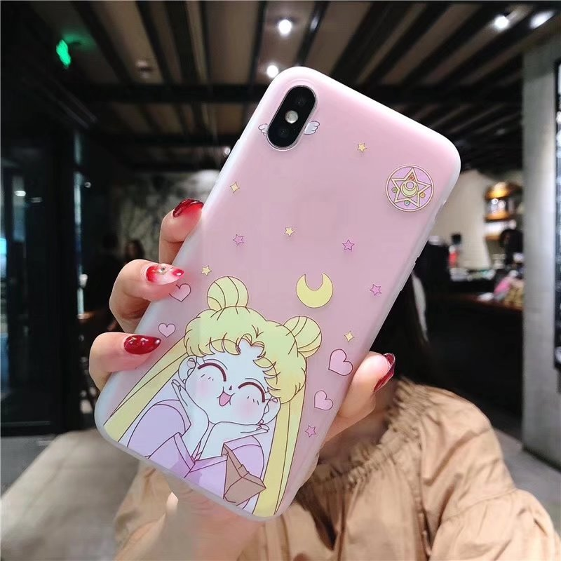 Cute kawaii cartoon sailor moon iphone case four-piece SE11123