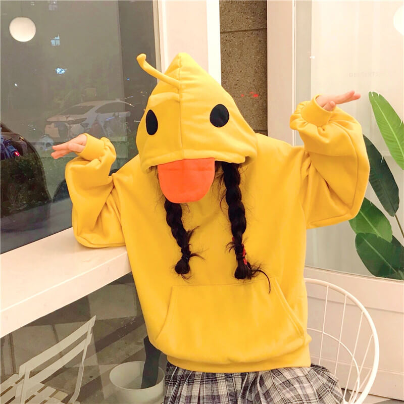 Cute Fleece Duck Hoodie SE20602