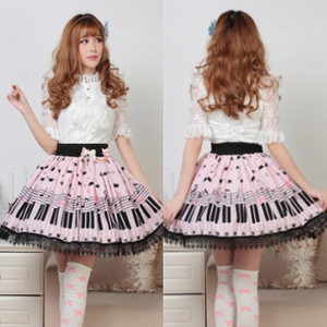 Cute sweet lolita pleated lace skirts SE3672