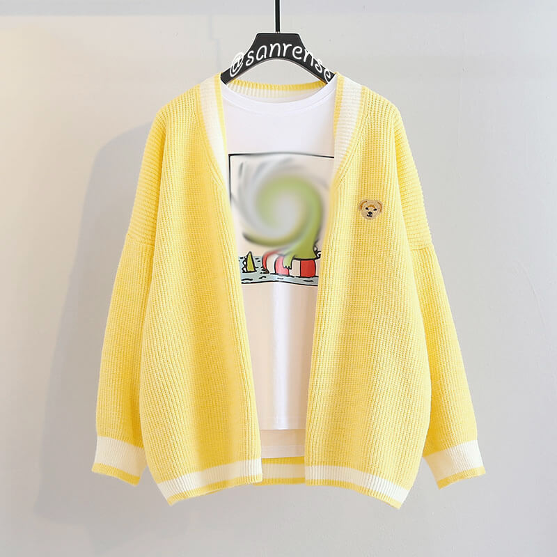 Kawaii Bear Cardigan Sweater SE21056
