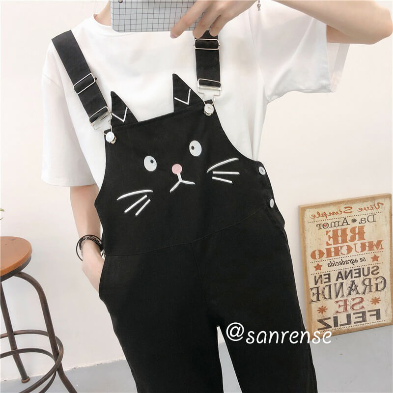 Kawaii Cat Jumpsuits SE20926