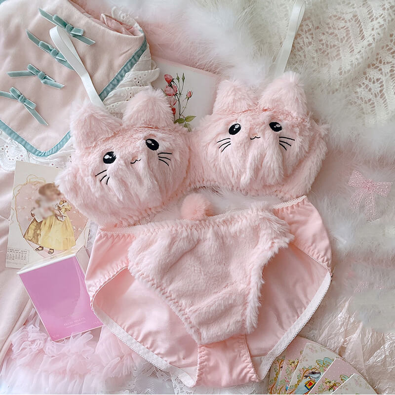 Kawaii Cat Plush Lingerie SE21470