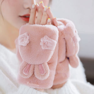 Kawaii Rabbit Ear Plush Gloves SE21096