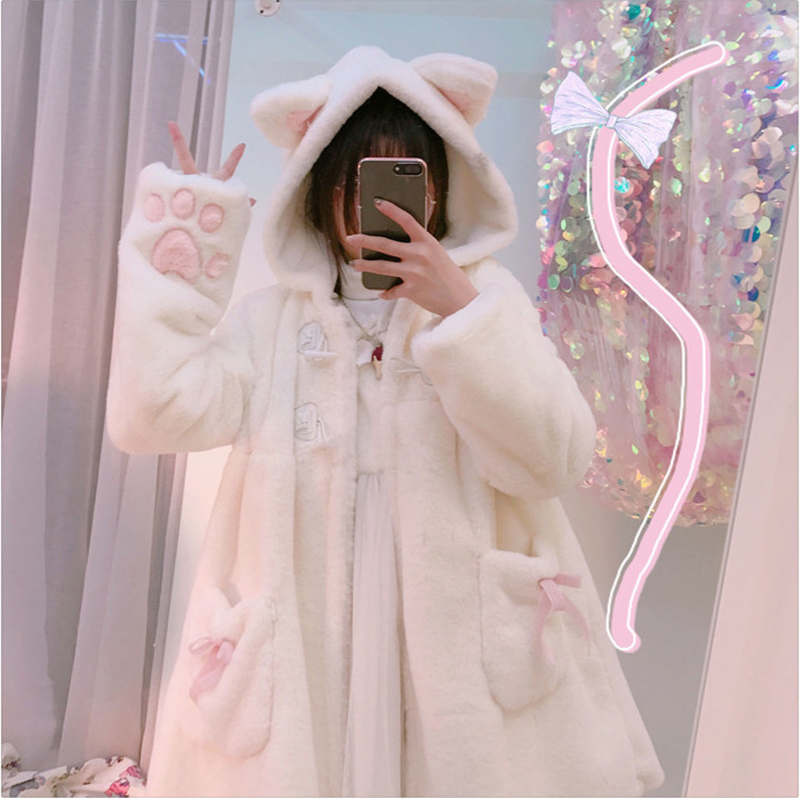 Kawaii Bear Cat Hooded Warm Coat SE20174