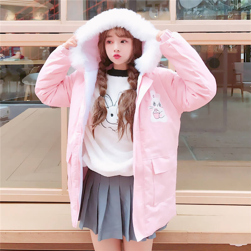 Kawaii Rabbit Maiden Thicken Coats Hooded SE20761