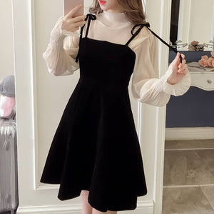 Korean Suspender Temperament Elegant Dress SE20860