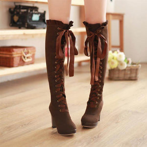 Fashion Bow Lace High Boots SE1234