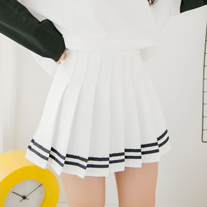Students Striped Plaid Pleated Skirt SE9891