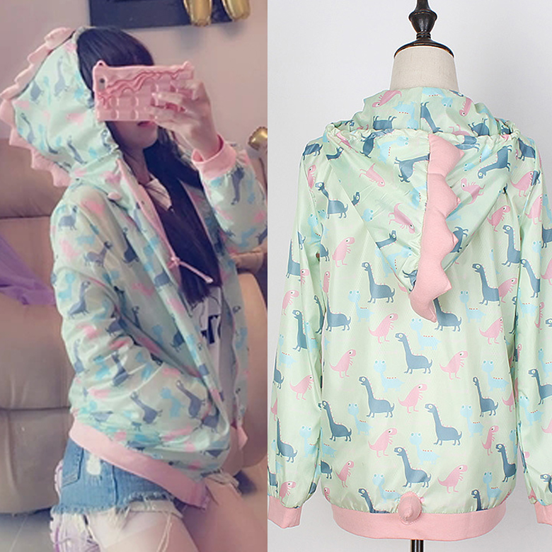 Fashion kawaii cartoon printing hooded coat SE6423
