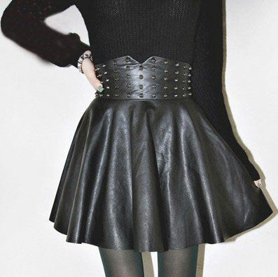 Fashion women leather skirts
