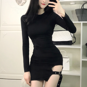 Korean sexy strap skirt night dress  SE11029