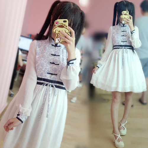Harajuku fashion chiffon dress SE5817