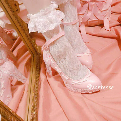 Lace Bow Lolita Shoes SE20943
