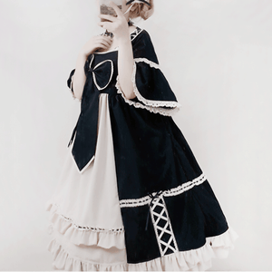 Lace Flying Sleeve Bow Lolita Dress SE20835