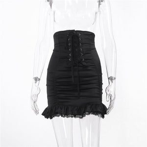 Lace High Waist Skirt SE21506