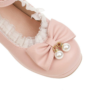 Lace Lolita Bow Shoes SE21245