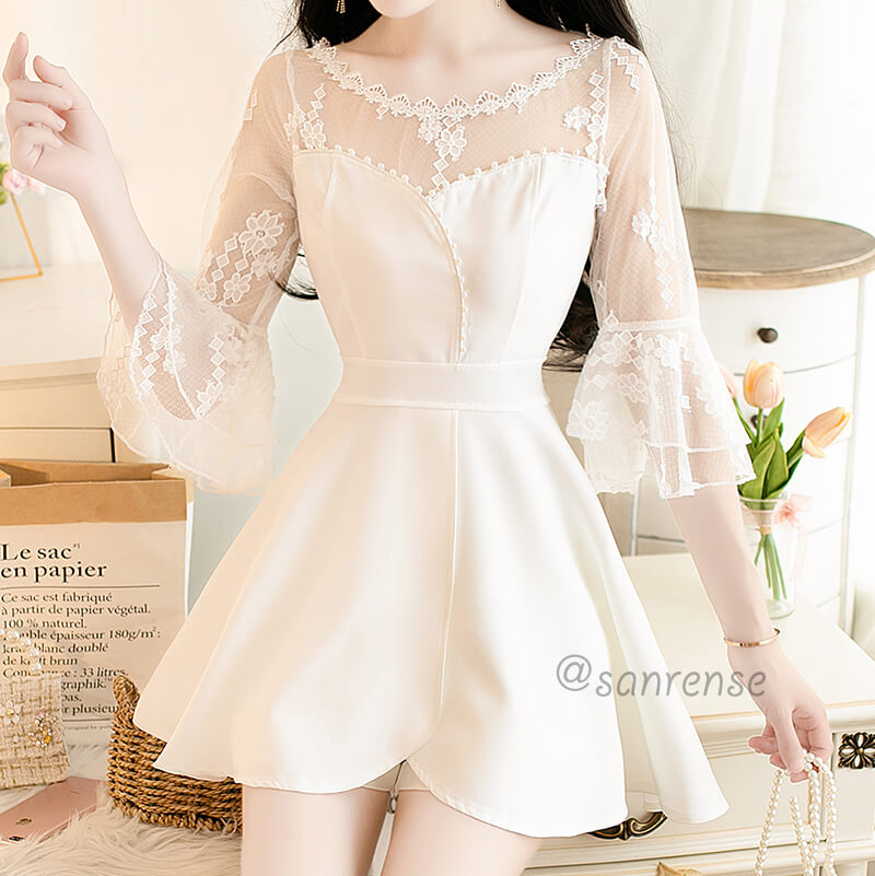 Lace Mesh Dress Shorts Set SE20908