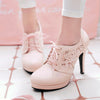 Lace Flower High Heels Shoes SE20267