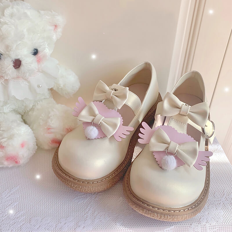 Lolita Bow Wings Shoes SE21573