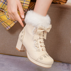 Lolita Flower Bow Boots SE21186