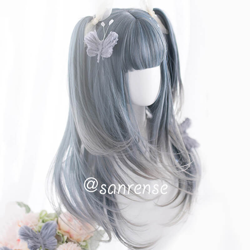 Lolita Gray Blue Gradient Wig SE20897