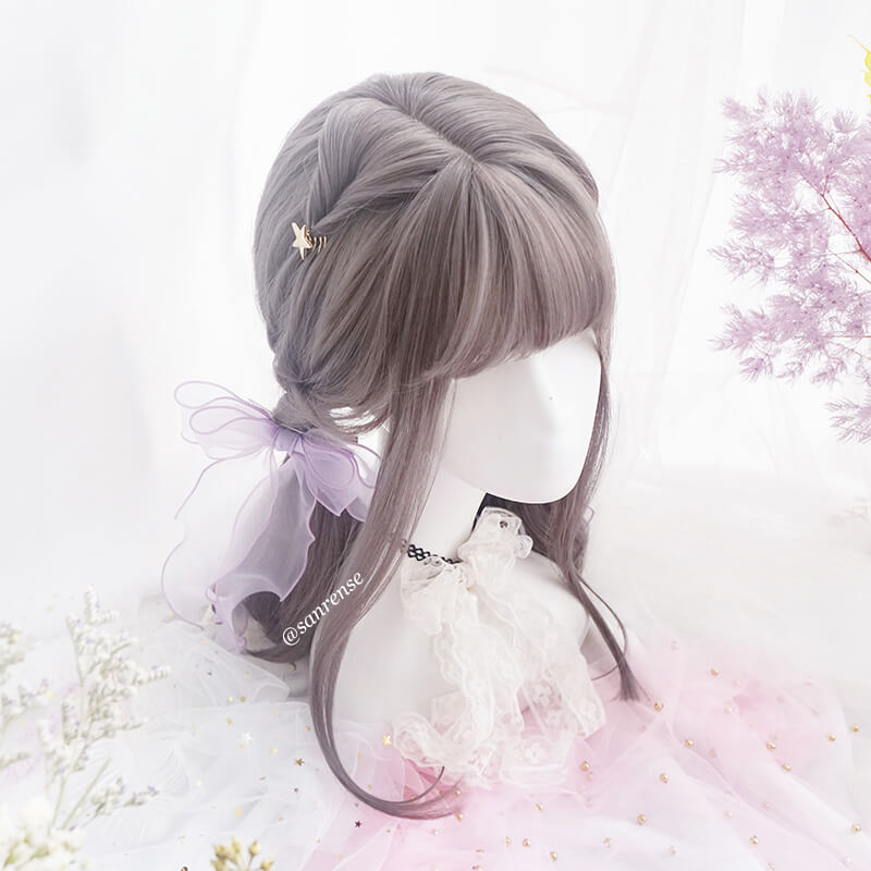 Lolita Grey Brown Cosplay Wig SE21159