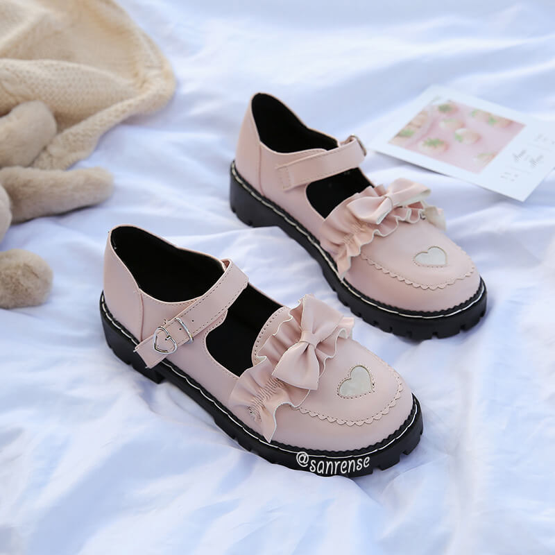 Kawaii Love Bow Shoes SE21101