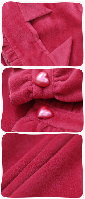 Lolita Cat Ear Ruffled Cape Hooded Woolen Coat SE20764