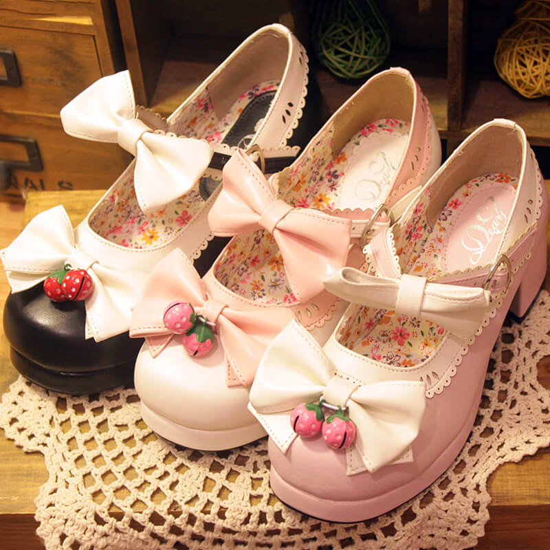 Lolita Cos Bowknot Shoes SE6536