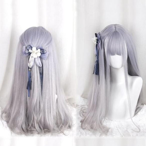 Purple/grey gradient harajuku lolita wig SE10093