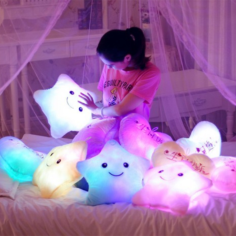 Cute Kawaii Totoro Anime Led Colorful Plush Pillow : 7 colour stars luminous hold pillow gifts?fashion,kawaii,tight,cartoon,cute,jfashion,panty-hose ...