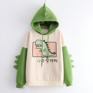 Monster Dinosaur Fleece Hoodie SE20579