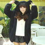 Cute cartoon hooded fleece coat SE5257
