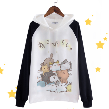 Cute cat cartoon fleece pullover SE9107