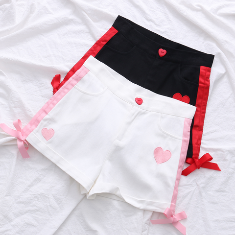 Black/white kawaii shorts SE11102