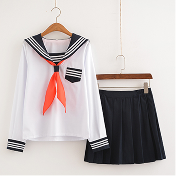 Japanese kawaii students cosplay sailor uniform skirt outfit