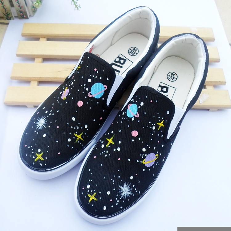 Harajuku Fashion Galaxy Canvas Shoes SE10553