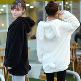 Cute cartoon hooded fleece coat cat