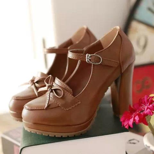 Cute kawaii princess bowknot heels