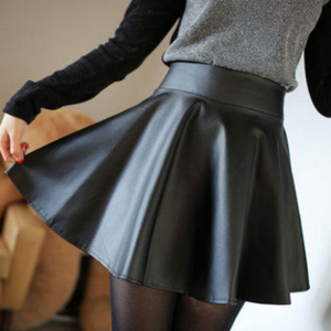 Black pu skirt SE9136