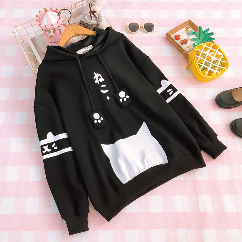 Fleece Cat Claw Hoodie SE11097