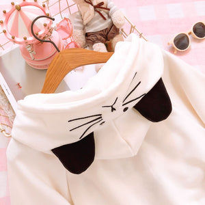 Cute Cat Claw Hooded Fleece Cloak SE20088