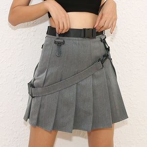 Cute Japanese High Waist Pleated Tennis Skirt SE20286