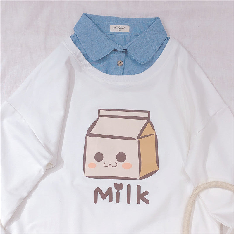 Cute Milk Shirt Sweatshirt  SE20294