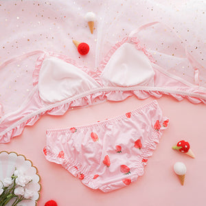 Cute Strawberry Bra Underwear Set SE20156