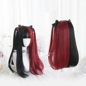 Lolita Black Mixed Red Ombre Wig SE21229