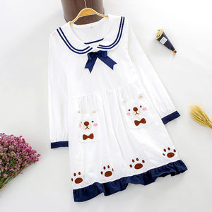 Japanese Sailor Bear Paw Dress SE20222