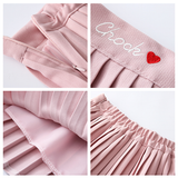 Pink/White Pleated Skirt SE11131